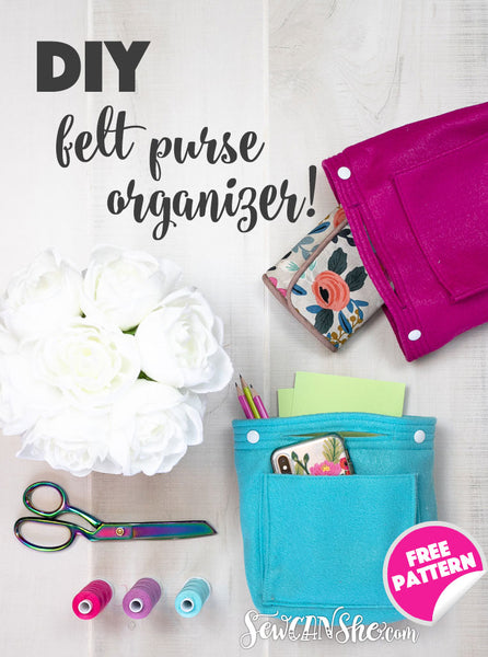 DIY Felt Purse Organizer - free sewing pattern