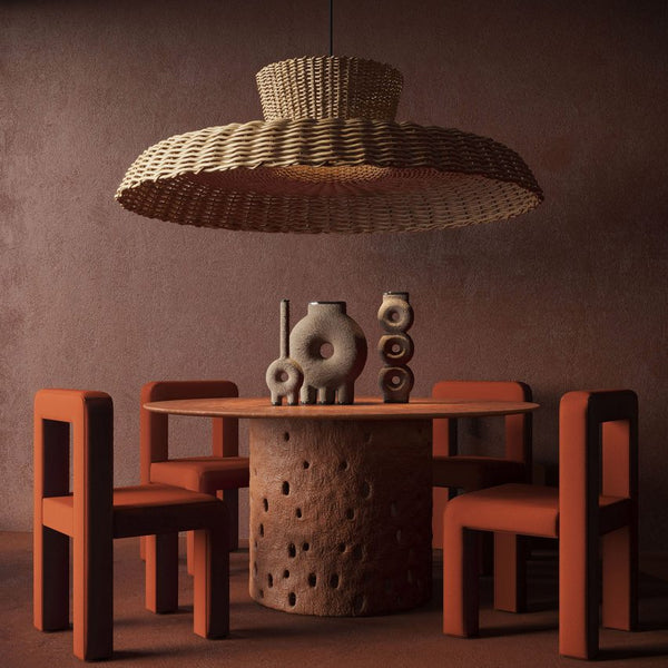 Kiev design brand Faina looked to traditional local materials for items of furniture made from clay, wood, willow and flax that tell the story of Ukraine's design roots.