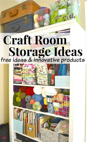 Once the hard work of decluttering is done, it's time for the fun of craft room storage ideas