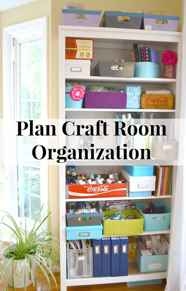 Whether your craft space is just one shelf or an entire room, knowing how to plan craft room organization will help you make the most of your craft storage.