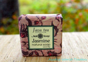 Bali Soap Bar Jasmine Green Tea antioxidant Handcrafted coconut oil