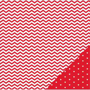 "American Crafts Basics Double-Sided Cardstock 12""X12""-Red Chevron"