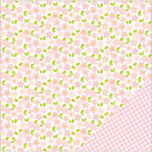 "American Crafts Basics Double-Sided Cardstock 12""X12""-Light Pink Floral"