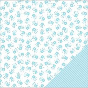 "American Crafts Baby Double-Sided Cardstock 12""X12""-Boy Hands"