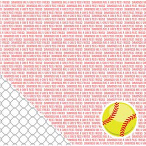 "American Crafts Sport Double-Sided Cardstock 12""X12""-Softball Sentiments"