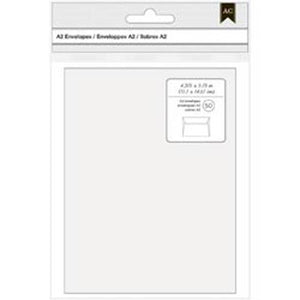 "American Crafts A2 Envelopes (4.375""X5.75"") 50/Pkg-White"