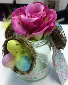 Beautiful handcrafted Easter rose complete with egg nests