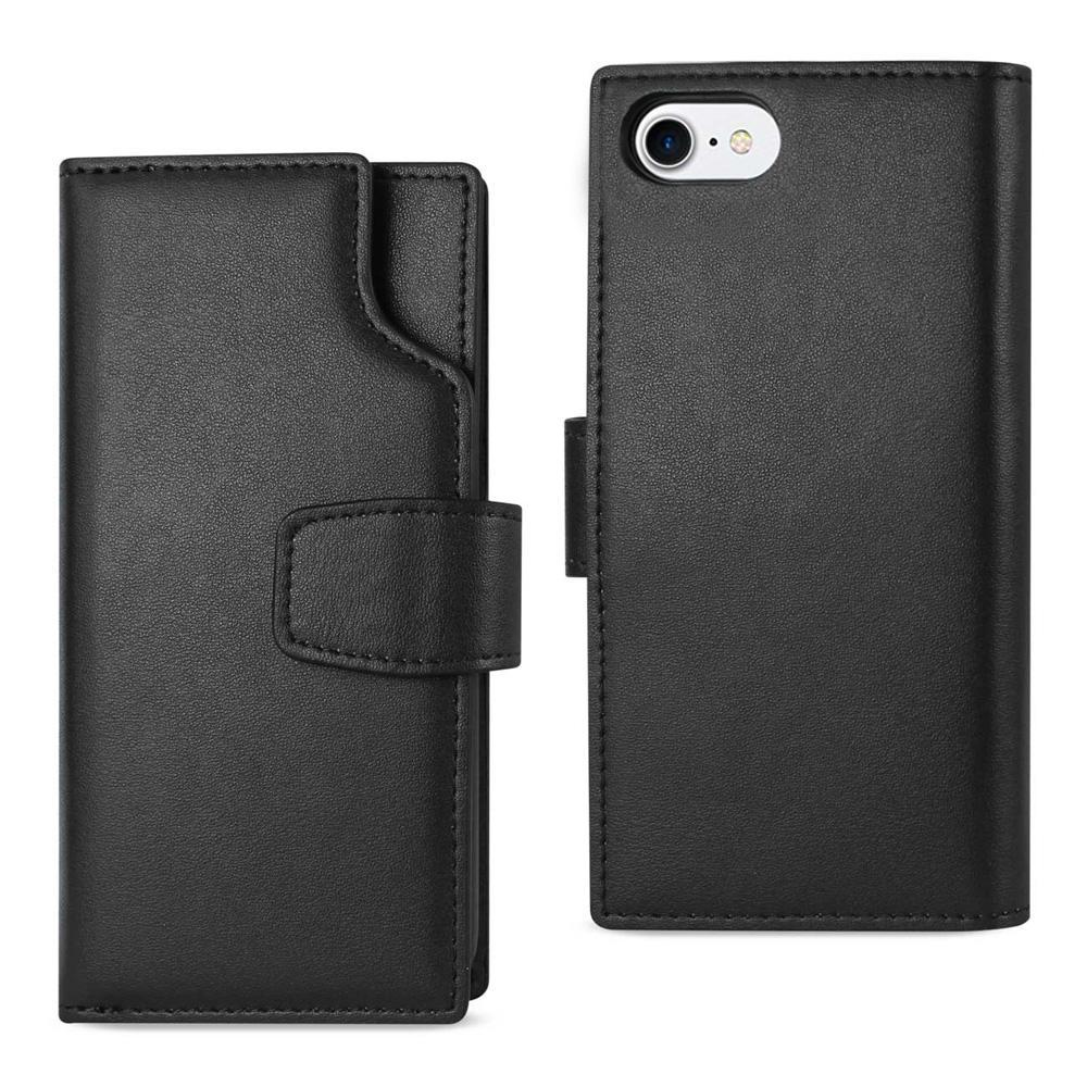 AMZER Handcrafted Genuine Leather RFID Credit Card Holder Wallet Case for iPhone 6 - Black