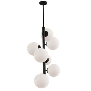 Artcraft Moonglow 18 in. wide Black Chandelier