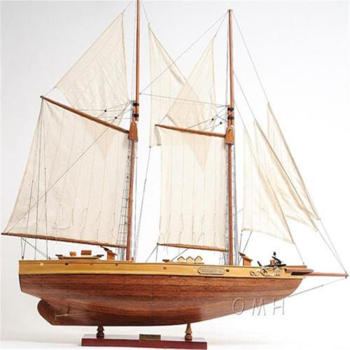 Bluenose II FULLY ASSEMBLED Handcrafted Wooden Model Boat
