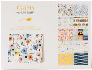 "American Crafts A2 Cards W/Envelopes (4.375""X5.75"") 40/Box-Amy Tan Finders Keepers"
