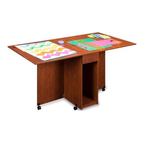 Assembled Cutting and Craft Table in Cherry