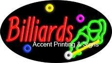 Billiards Flashing Handcrafted Real GlassTube Neon Sign