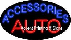 Auto Accessories Flashing Handcrafted Real GlassTube Neon Sign