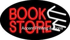 Book Store Flashing Handcrafted Real GlassTube Neon Sign