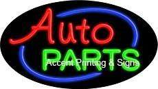 Auto Parts Flashing Handcrafted Real GlassTube Neon Sign