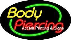 Body Massage Flashing Handcrafted Real GlassTube Neon Sign
