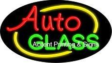 Auto Glass Flashing Handcrafted Real GlassTube Neon Sign