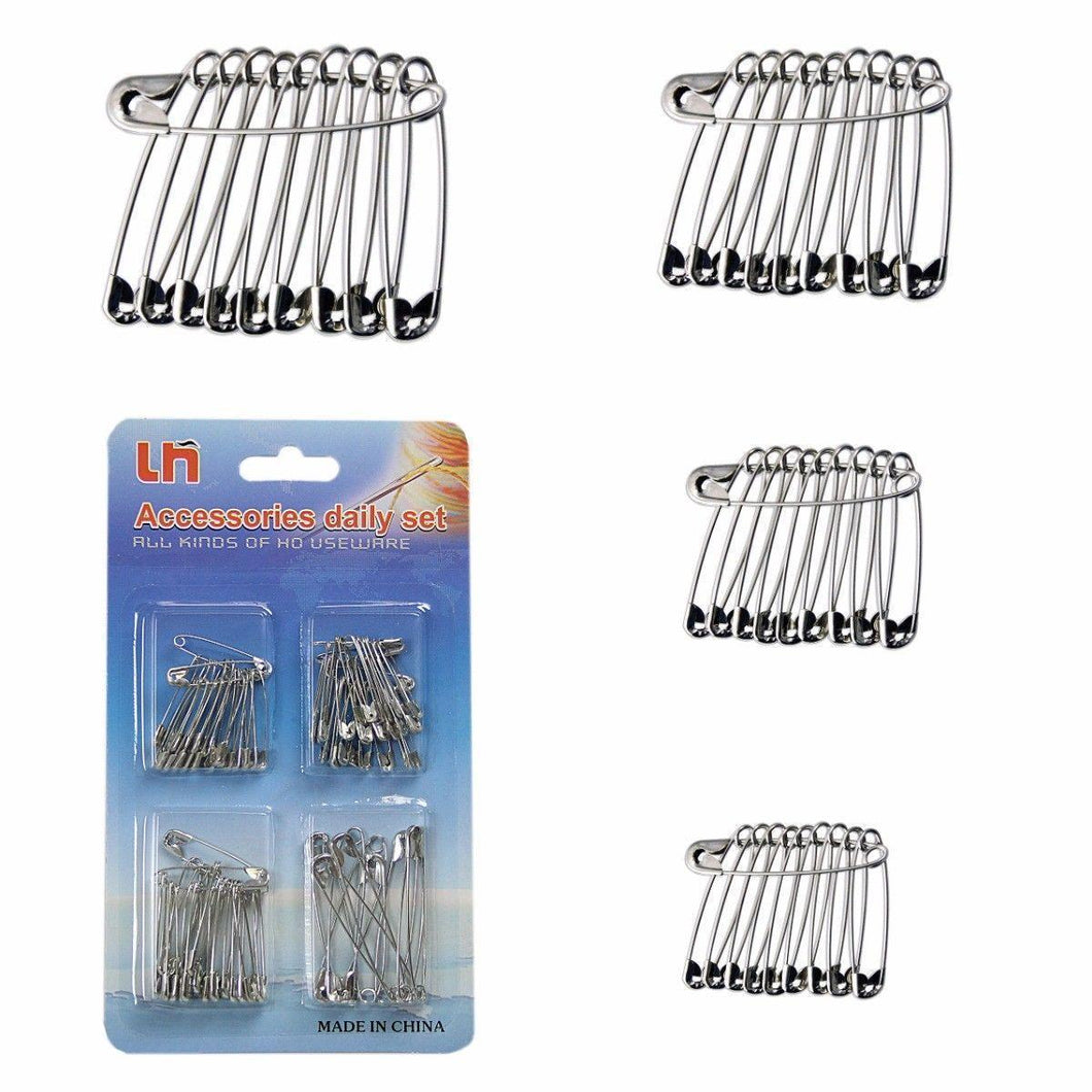 Assorted Size Pack of Safety Pins Accessory Set Crafts and Pins   0645