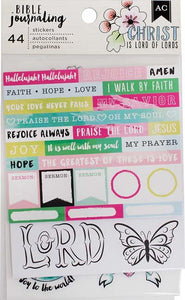 "American Crafts Bible Journaling Stickers 4""X7"" 3/Pkg-Watercolor"