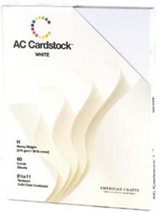 "American Crafts Cardstock Pack 8.5""X11"" 60/Pkg-White"