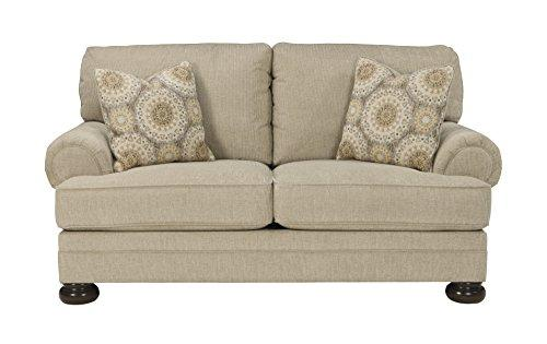 Benchcraft - Quarry Hill Traditional Upholstered Loveseat - Quartz