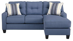 Benchcraft - Aldie Nuvella Contemporary Sofa Chaise - Blue