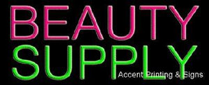 Beauty Supply Handcrafted Real GlassTube Neon Sign