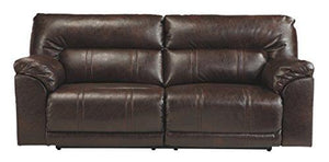 Benchcraft 4730181 Barrettsville Reclining Sofa, Chocolate