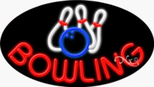 Bowling Handcrafted Energy Efficient Real Glasstube Flashing Neon Sign