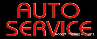 Auto Service Handcrafted Real GlassTube Neon Sign