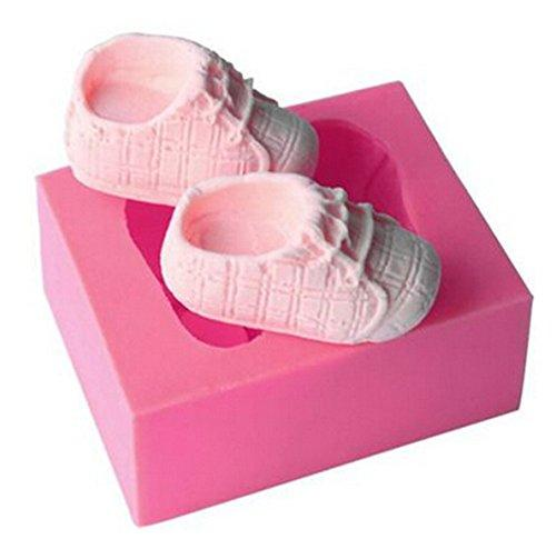 Baby Shoes Silicone Fondant Cake Mould Icing Chocolate Sugar Sugarcraft Baking Decorating Mould Tools