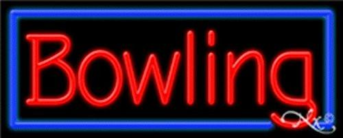 Bowling Handcrafted Energy Efficient Glasstube Neon Signs