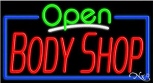 Body Shop Open Handcrafted Energy Efficient Glasstube Neon Signs