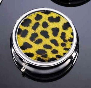 Animal Print Pill Box by Giftcraft - Choice of Color, Leopard