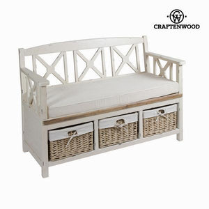 Bench with drawers lauren - Winter Collection by Craftenwood