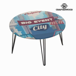 Blue round centre table by Craftenwood