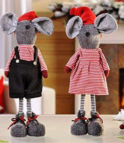 Giftcraft Standing Mouse Figurines, Set of 2