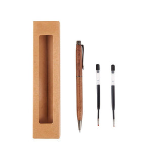 Artinova Wooden Gel Pen Black Ink Handcrafted with Two 0.5mm Ink...