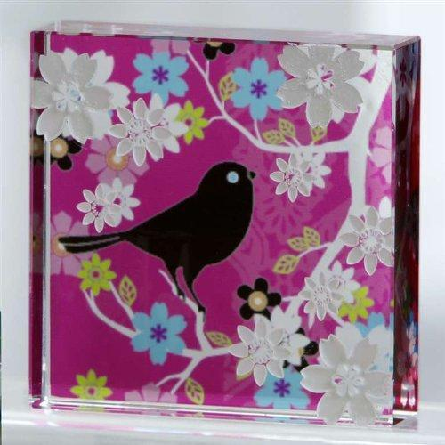 Black Bird Glass Block by Giftcraft