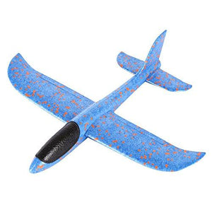 Boy Birthday Gift Foam Throwing Glider Airplane Inertia Aircraft Toy A, Blue