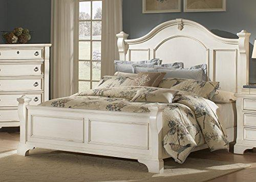 American Woodcrafters 2910-50POS Heirloom Poster Bed, Queen, Antique White