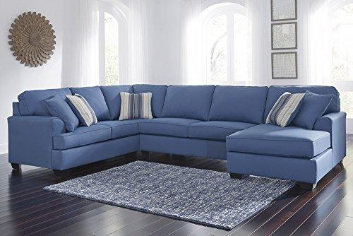 Benchcraft Brioni Nuvella Sectional w/RAF Chaise (Oversized) by Ashley