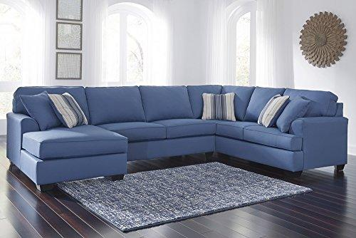 Benchcraft Brioni Nuvella Sectional w/LAF Chaise (Oversized) by Ashley