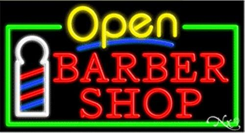 Barber Shop Open Handcrafted Energy Efficient Glasstube Neon Signs