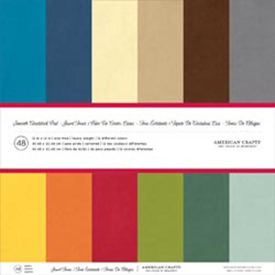 American Crafts Smooth Cardstock Pack 12