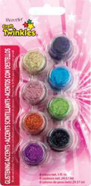 Americana Craft Twinkles Paint Pots 8/Pkg-Glistening Accents