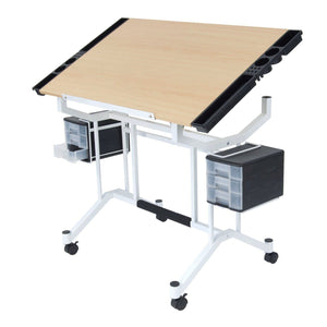 Featured studio designs pro craft station in white with maple 13245