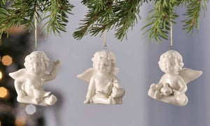 Giftcraft Porcelain Angel Ornaments, Set of 3