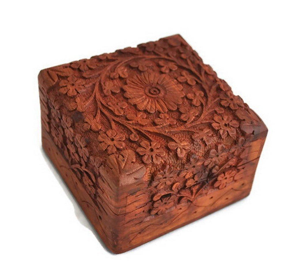 Artncraft Jewelry Box Novelty Item, Unique Artisan Traditional Hand Carved 1